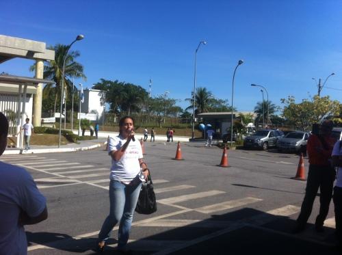 Ana Paula em mobilização pela valorização do setor de manutenção operacional realizada este ano no Terminal de Cabiúnas